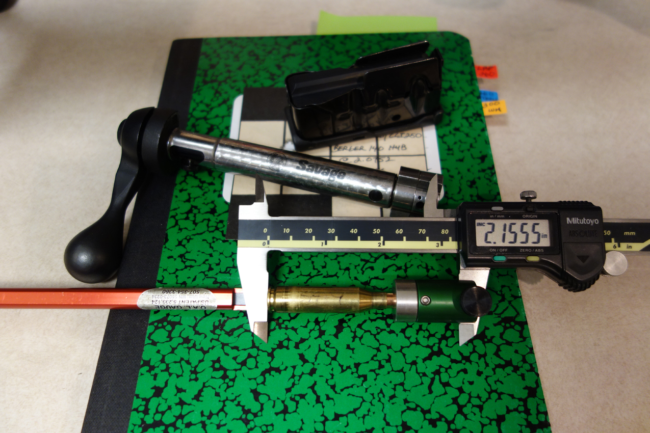 Measuring Seating Depth Savage LRP 260 Remington